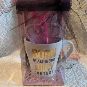 NWT Juicy Couture Ceramic Coffee Mug Gift Set